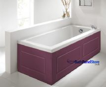 Shaker Style Burgundy 2 Piece adjustable Bath Panels